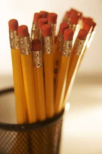 Pencils for bookkeeping